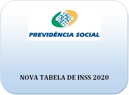 Novas Alíquotas de INSS 2020